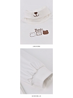 Bear Embroidery Turtleneck White Shirt for kids by Mini Mori Tribe