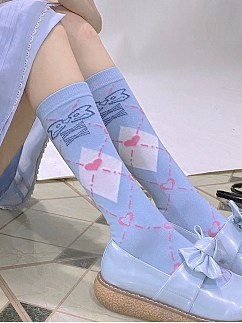 Contrasting Color Heart Socks by Rozen Maiden