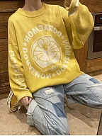 Doraemon Authorized Yellow Loose Sweater by No Worries