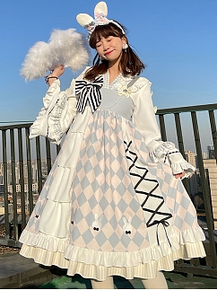 Kitchen Maid Alice Blue Lolita Dress JSK Set by SanKouSan