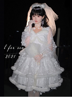 Starry Snow Elegant Princess Dress Full Set by SanKouSan