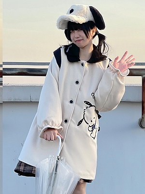 Sanrio Authorized Pochacco Beige Coat by MiTang Baby