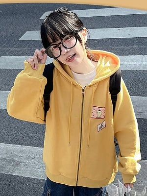 Sanrio Authorized Pompompurin Zipper Hoodie by MiTang Baby