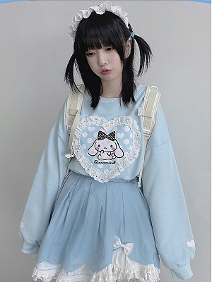 Sanrio Authorized Cinnamoroll Prints front Sweatshirt by MiTang Baby