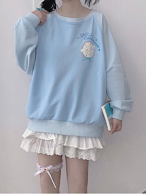 Sanrio Authorized Cinnamoroll Prints back Sweatshirt by MiTang Baby