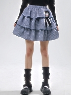 Y2K Style Triple Layered Flounce Skirt by SOS MEME CLUB
