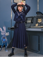 Disney Authorized Zootopia Sailor Collar Top / Pleated Skirt by Mori Tribe