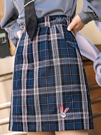 Disney Authorized Zootopia A-line Plaid Skirt by Mori Tribe