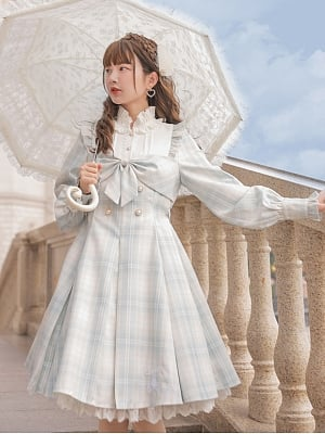 Disney Authorized Cinderella Long Sleeve Plaid Dress by Mori Tribe