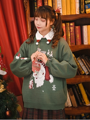 Christmas Cosmic Laws Round Neckline Sweater by Mori Tribe