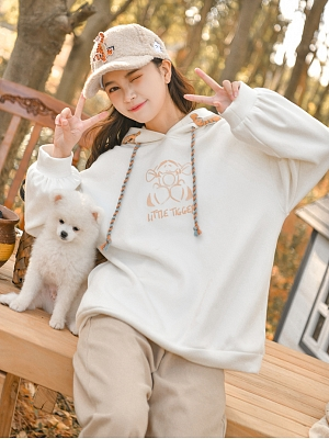 Disney Authorized Winnie the Pooh White Hoodie by Mori Tribe