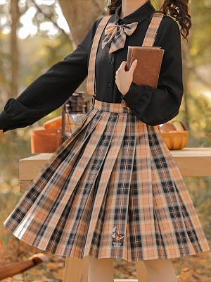 Disney Authorized Tigger Plaid JK Skirt by Mori Tribe