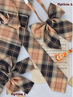 Disney Authorized Tigger Plaid Skirt Matching Bow Tie / Tie / Shoulder Straps by Mori Tribe