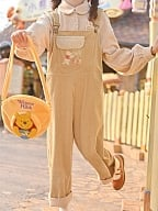 Disney Authorized Winnie Brown Corduroy Overall Pants by Mori Tribe