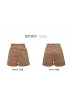 Disney Authorized Winnie the Pooh Corduroy Shorts by Mori Tribe