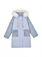 Disney Authorized Eeyore Loose Hooded Down Coat by Mori Tribe