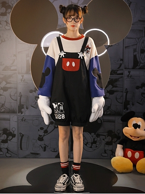 Disney Authorized Mickey Mouse Clubhouse Sweatshirt / Overall Shorts by Mori Tribe