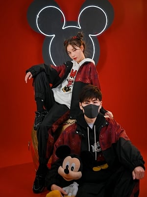 Disney Authorized Mickey Mouse Female Sportswear Hooded Jacket / Pants by Mori Tribe