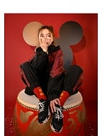 Disney Authorized Mickey Mouse Male Sportswear Hooded Jacket / Pants by Mori Tribe