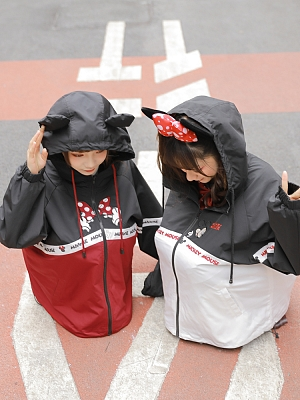 Disney Authorized Mickey Mouse Female Hooded Jacket by Mori Tribe