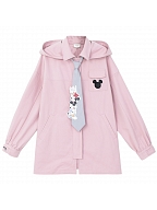 Disney Authorized Mickey Mouse Prints Back Hooded Jacket by Mori Tribe