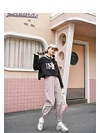 Crown Girls Pink Sweatpants by Mori Tribe