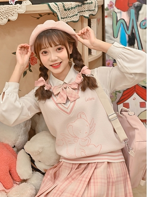 Card Captor Sakura Authorized V-neckline Knitted Vest by Mori Tribe