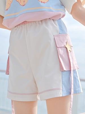 Card Captor Sakura Authorized Pink Shorts by Mori Tribe