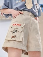 Disney Authorized Mickey Mouse Short Sleeves Shirt / Apricot Shorts by Mori Tribe