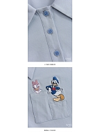 Disney Authorized Polo Collar Short Sleeves T-shirt by Mori Tribe