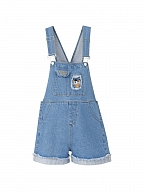 Disney Authorized Donald Duck Denim Overall Shorts by Mori Tribe