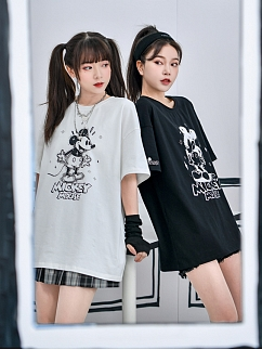 Disney Authorized Mickey Mouse Couple T-shirt by Mori Tribe