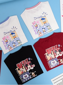 Disney Authorized Taste Date Prints T-shirt by Mori Tribe