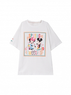 Disney Authorized Spring Sweeties Short Sleeves T-shirt by Mori Tribe