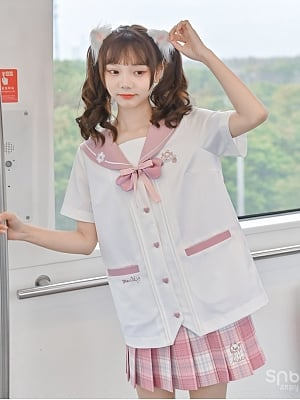 Disney Authorized Marie Kitten JK Uniform Sailor Collar Top by Mori Tribe