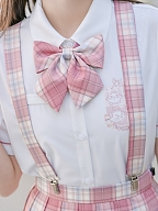 Disney Authorized Marie Kitten Plaid Skirt Matching Bow Tie / Tie / Shoulder Straps by Mori Tribe