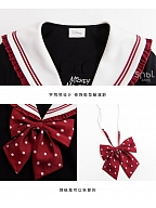 Disney Authorized Mickey Mouse Sailor Collar Top / Flounce Hemline Skirt Set by Mori Tribe