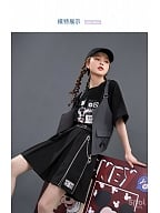 Disney Authorized Mickey Band Asymmetrical Skirt by Mori Tribe