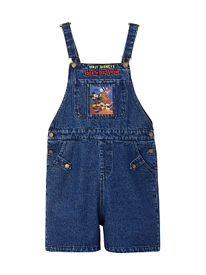 Disney Authorized Mickey Mouse Denim Overall Shorts by Mori Tribe
