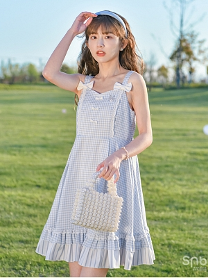 Disney Authorized Alice in Wonderland Plaid Cami Dress by Mori Tribe