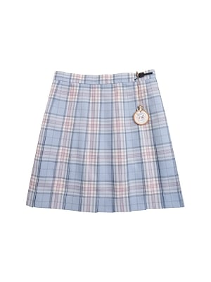 Disney Authorized Alice in Wonderland Blue Pleated Skirt by Mori Tribe