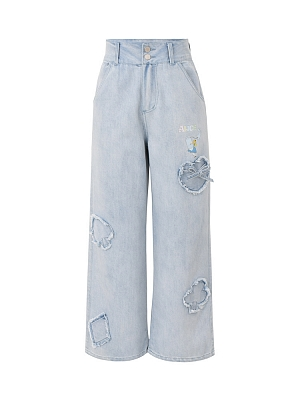Disney Authorized Alice in Wonderland Denim Pants by Mori Tribe