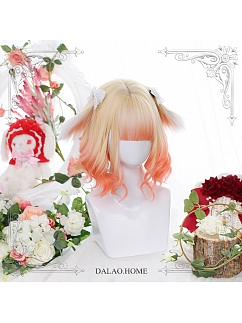 Short Micro Curly Beast Ears Synthetic Lolita Wig by Dalao Home