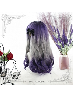 Highlights Gradient Long Big Wave Curly Synthetic Lolita Wig by Dalao Home