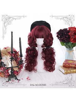 Mid-length Wool Curly Synthetic Lolita Wig by Dalao Home