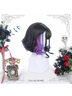 Short Micro Curly Synthetic Lolita Wig by Dalao Home