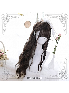 Dark Brown Water Ripple Long Curly Synthetic Lolita Wig by Dalao Home