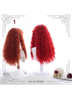 Red Witch Long Wool Curly Synthetic Lolita Wig by Dalao Home