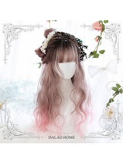 Gradient Egg Roll Long Curly Synthetic Lolita Wig by Dalao Home