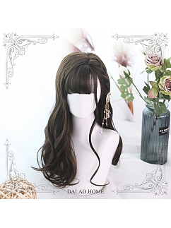 Chestnut Brown Long Curly Synthetic Lolita Wig by Dalao Home